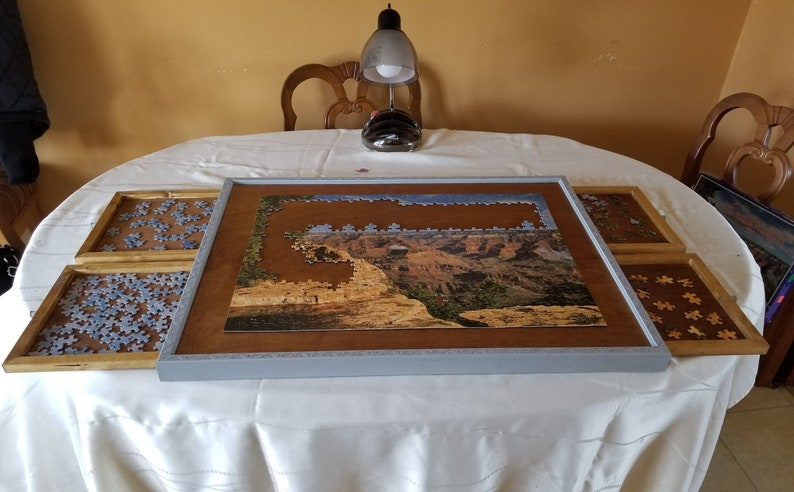 Large 4 Drawer Jigsaw Puzzle Board 1500 pc