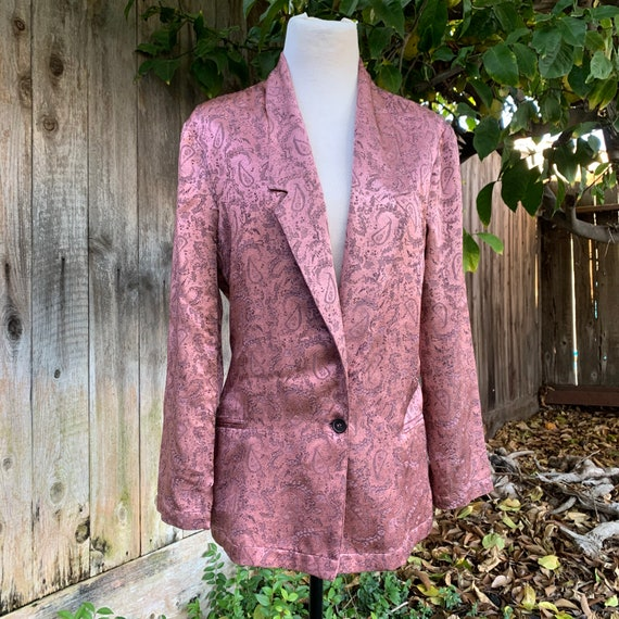Free People Pink Silky Blazer