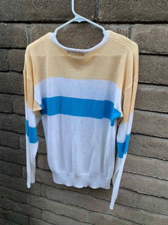 Vintage 80s Sweater, Loubella pastel, silky feath… - image 3