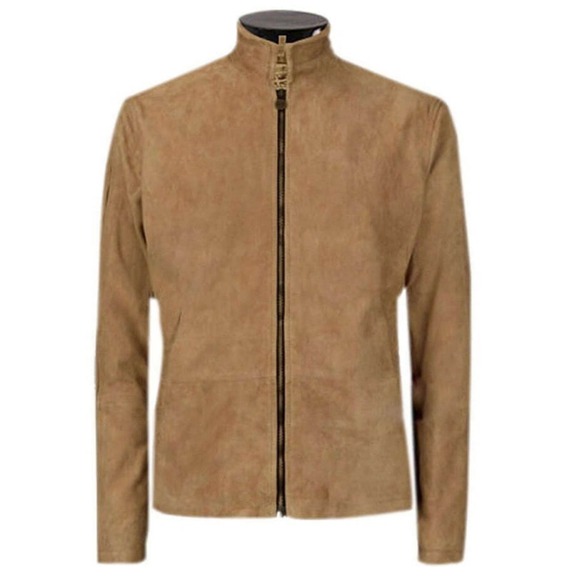 James Bond Brown Suede Spectre Morocco Real Leather Jacket