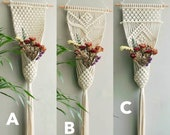 Macrame plant hanger Large wall planter indoor outdoor Long macrame wall hangings Rope crochet artificial plants house plant pot holder Boho