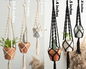 22.8 39 39 - 33.4 39 39 black and white macrame plant hangers, wall hangings plant holder, rope crochet ceiling hanging planter, simple modern boho