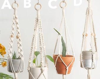 Macrame plant hanger, Hanging planter, Indoor garden decor, Wall planter, Small pot holder, Plant hammock, Macrame planter Rope planter Boho