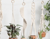 Macrame plant hangers Long suspended wall planter indoor outdoor large wall hangings plant holder Rope crochet ceiling hanging planter boho
