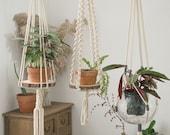 Large macrame plant hanger for high ceiling Long hanging floating shelf Suspended wall planter Decorative pot holder terrarium hanger simple