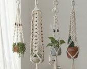 Macrame plant hanger, Hanging planter, Large wall planter indoor, Long decorative pot holder, Rope crochet ceiling planter, Boho decor
