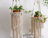 47 39 39 -53.14 39 39 long macrame plant hangers holders basket with tassels, wall hanging planters indoor outdoor plant pot holders boho decor