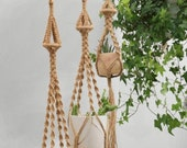 Jute macrame plant hangers Hanging wall planter indoor outdoor Wall hangings Rope crochet suspended ceiling plant holder Boho cute decor