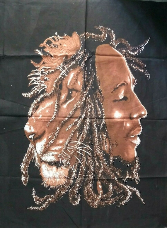Bob Marley Lion Face Tapestry Reggae Wall Hanging Throw Poster Flag Textile