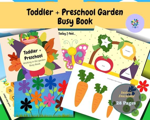Garden Preschool Printable Busy Book  Learning Binder