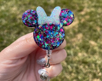 Minnie Inspired Badge Reel   Disney badge holder   Mickey badge clip   Disney world   Disneyland   nurse   teacher   cute