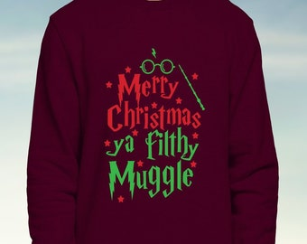 harry potter christmas sweater etsy
