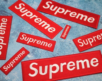 ALL SIZES Red Supreme All Embroidery Patch Logo Patch Brand Embroidery  Patch Word Iron On Patch Top Quality Wording Patch Supreme Applique 9e1d4bbd7e