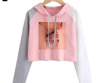 8866bce4d4 Ariana grande hoodie crop top