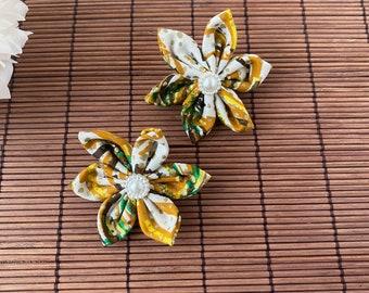 Small Postbox Hamper African Print Fabric Ntoma Ankara Kitenge Handmade Hair Clips Gift Idea Hair Pins and Sweet Letterbox Gift