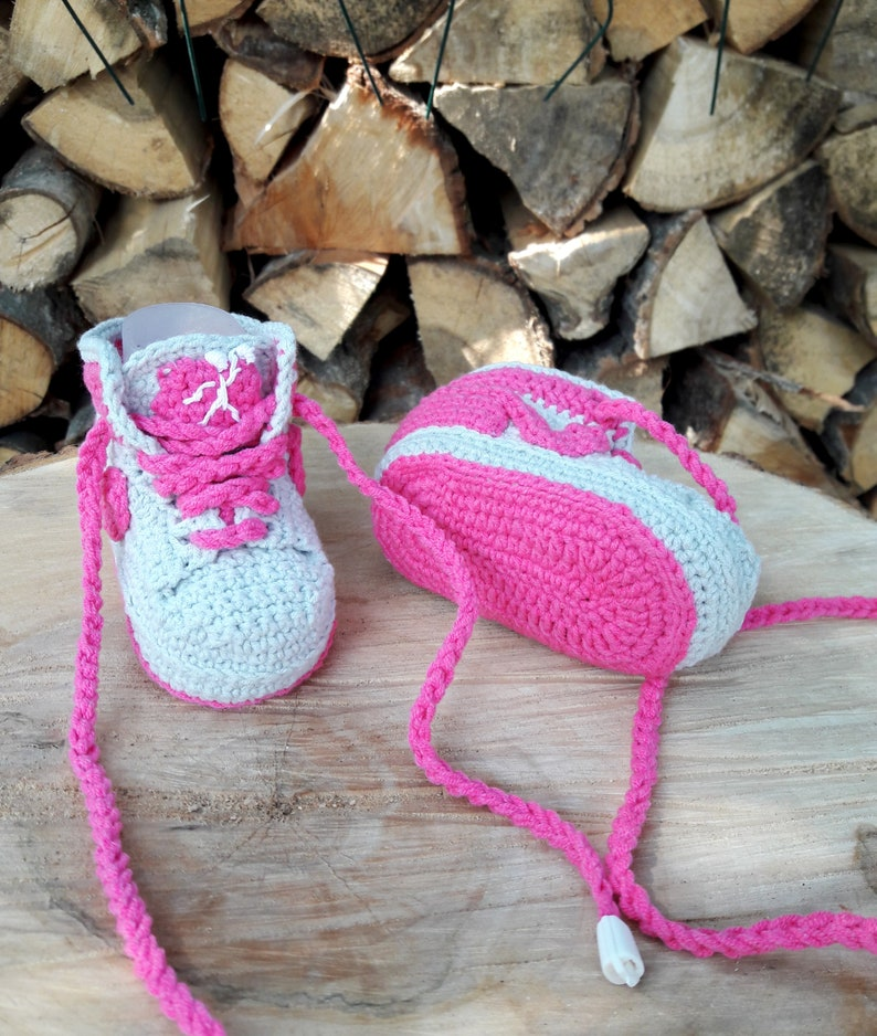 0548a97cce9cb4 Crocheted baby booties sneakers Jordan Baby cotton sneakers