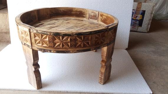 Excellent Wood Antique Indian Chakki Grinder Chakki And Office And Home Coffee Table Inzonedesignstudio Interior Chair Design Inzonedesignstudiocom