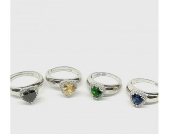 Schmuck & Zubehör Mode Ringe Für Frauen Mehrfarbige Quadratische Kristall Zirkon Ring Für Damen Hochzeit Band Dünne Engagement Ring Hochzeits- & Verlobungs-schmuck