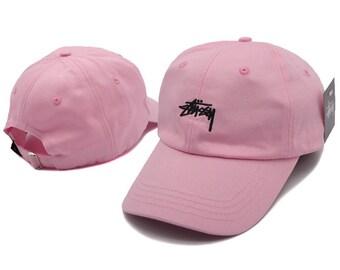 Pink Stussy Baseball Cap bd7a9d7085