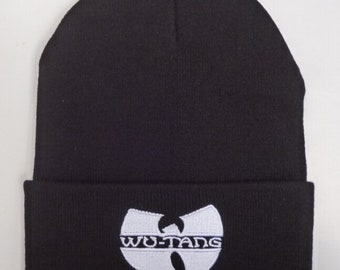 d96be4d2bc733 Classic Wu tang White Embroided Beanie