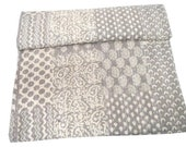 Set Of 2 Beautiful decorative Indian handmade Kantha quilt Kantha bedspread perfect bed matching quilt size 90x108 Inches block print kantha