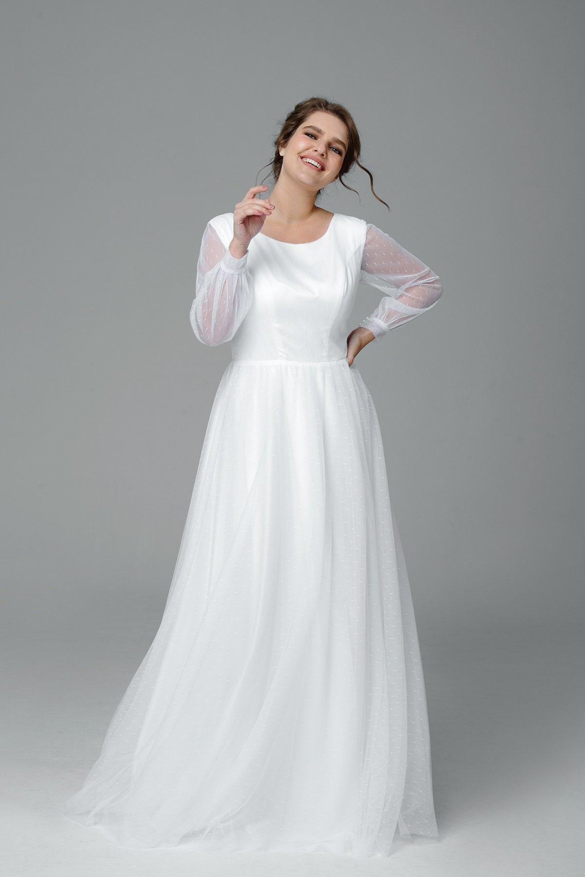 2c3428ac04e Plus Size Long Sleeve Wedding Dresses - Gomes Weine AG