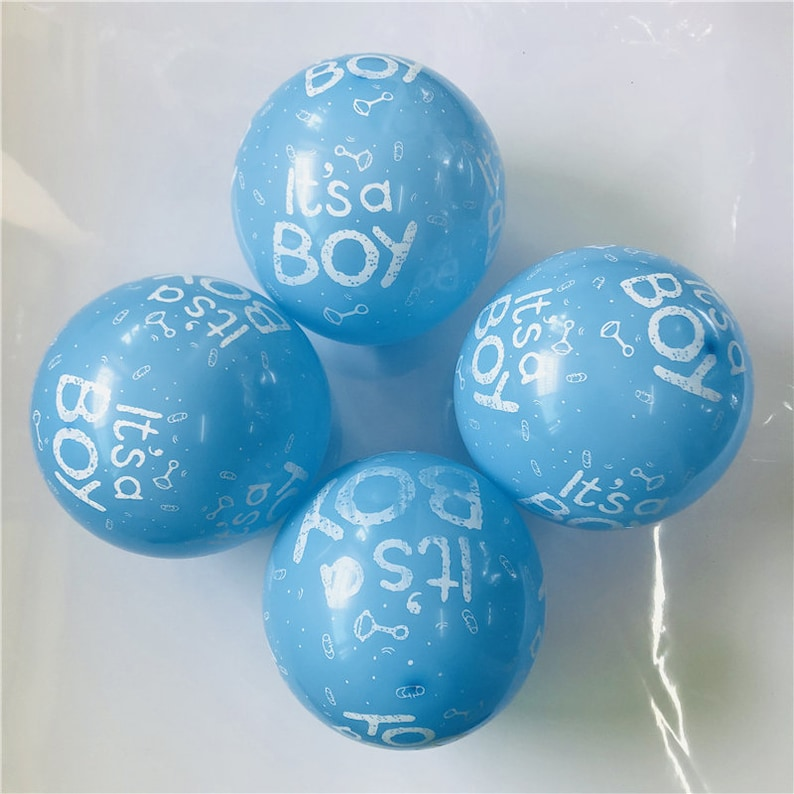 50pclot 12inch baby shower balloons its a boy it/'s a girl printed balloons baby shower Birthday party decorations ballon supply
