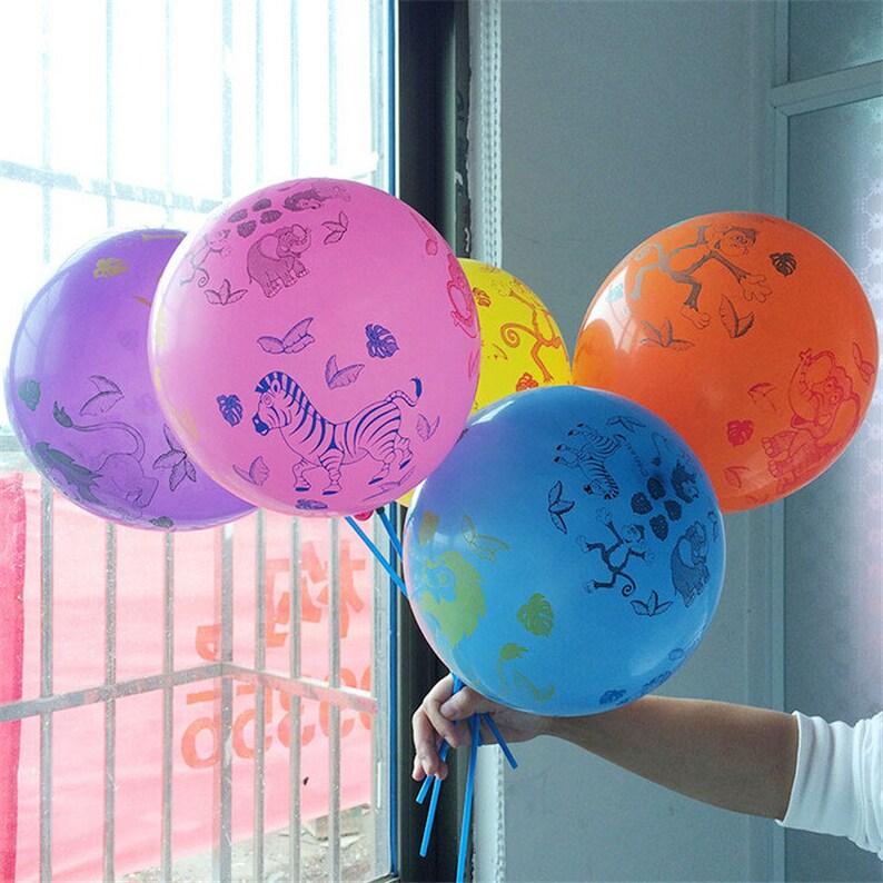 10pcslot 12 Inch Latex Balloons Printed Cartoon Animal Inflatable Air Balls Wedding Birthday Party Decoration Balloons Supplies