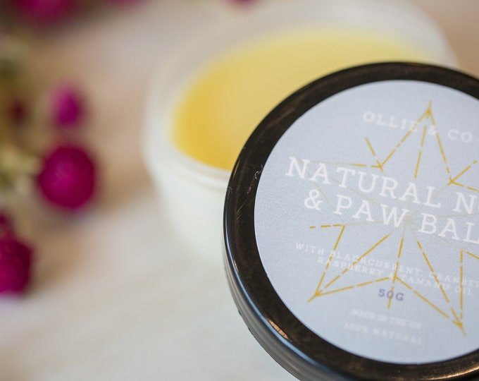 Natural Nose & Paw Balm For Dogs With Blackcurrant, Cranberry, Raspberry, Tamanu Oil   Ollie and Co 200g