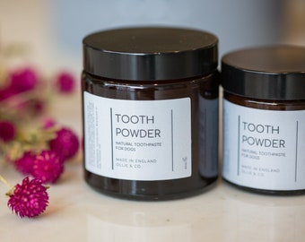 Set - Natural Dog Tooth Powder and Paw Balm   Ollie & Co