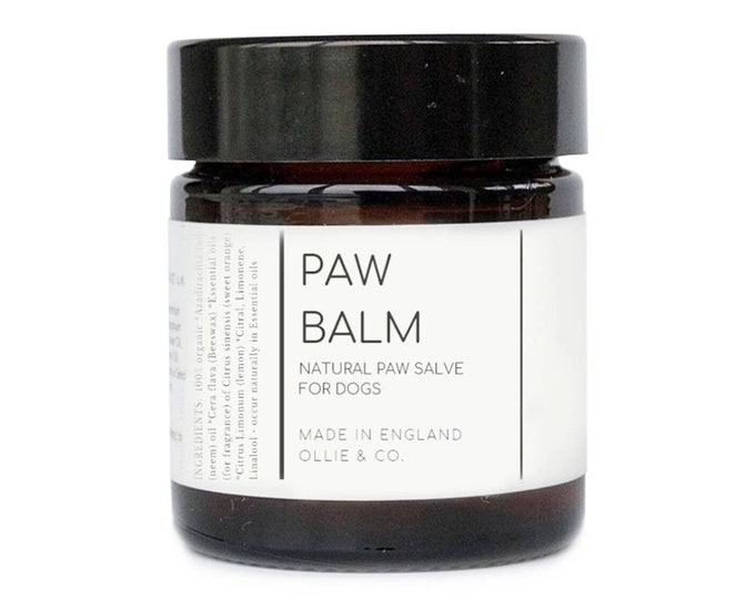 Duo Set 》Natural Beeswax Dog Paw Balm & Natural Dog Tooth powder 》by Ollie + Co - gift