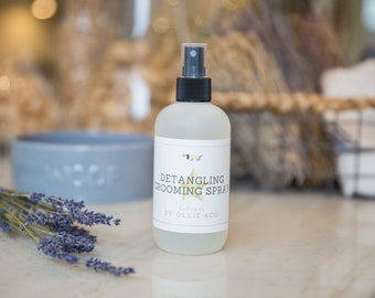 Detangling Grooming Spray With Wheat Protein, Conditioning Active & 5 Vitamins   Ollie and Co
