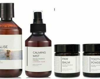 Re:Vitalise, Natural Paw Balm, Tooth Powder & Calming Mist Dog Set Ollie + Co.