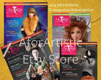 E-Magazine - 2014 AforArtistic Quarterly Subscription