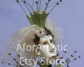 E-Class - Metalmaid by Linda Hollerich, Paper Clay Artist