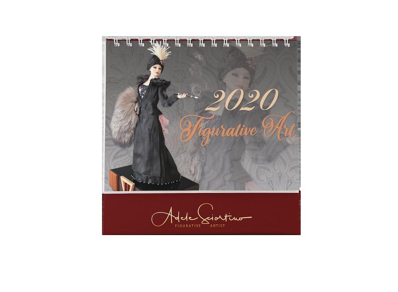 2020 Figurative Art Desk Calendar image 0