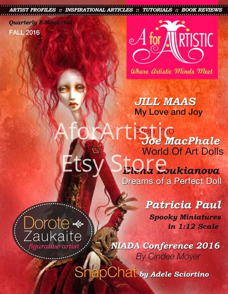 E-Magazine  2016 Fall Issue  AforArtistic Quarterly image 0
