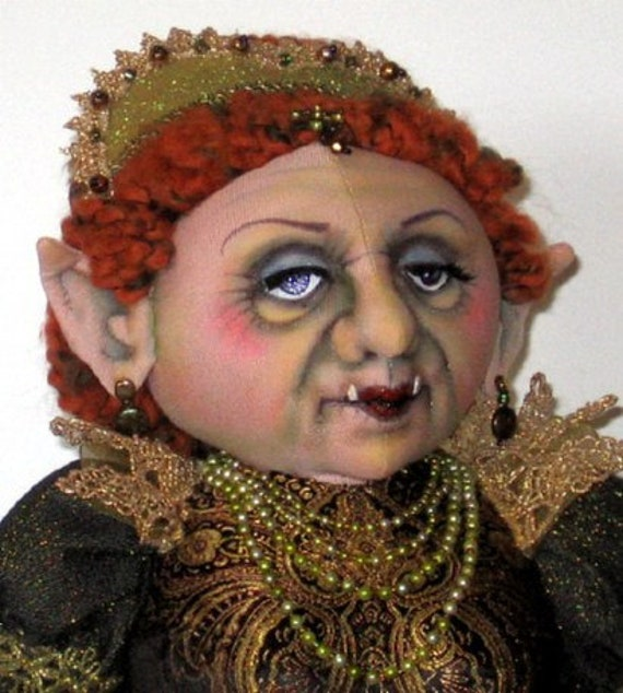 "*NEW* CLOTH ART DOLL PAPER PATTERN /""TROLL QUEEN/"" BY ARLEY BERRYHILL"