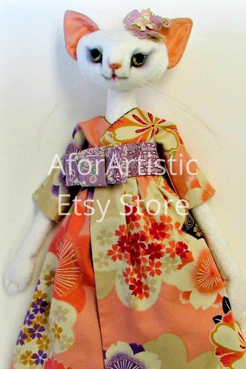 E-Pattern  Meow-Meow Neko By Leslie O'Leary NIADA Artist image 0
