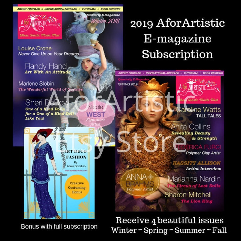 E-Magazine  2019 AforArtistic Subscription Plus Bonus image 0