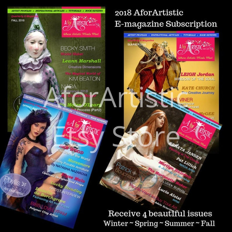 E-Magazine  2018 AforArtistic Quarterly Subscription image 0