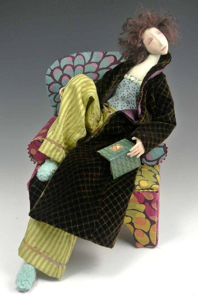 """Paper *NEW* Cloth Art Doll Pattern /""""Dippin/' Dottie/"""" By Cindee Moyer"""