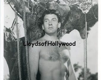 Massimo Girotti Handsome Italian Actor  Hairy Chest  Beefcake Fabiola  Photograph 1949