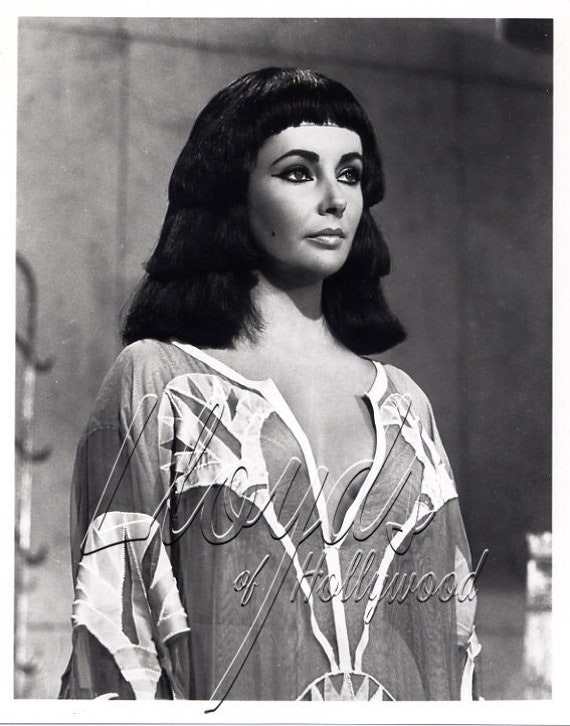 Elizabeth Taylor Cleopatra Hair And Wardrobe Test Photograph | Etsy