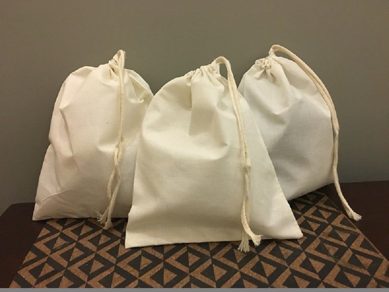 Reusable and Eco-Friendly 8x10 Inches 100/% Organic Single Drawstring Muslin  Bags NATURAL COLOR Set Of 200