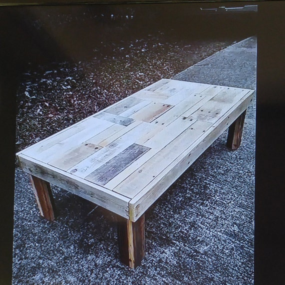 Rustic Pallet Coffee Table Etsy