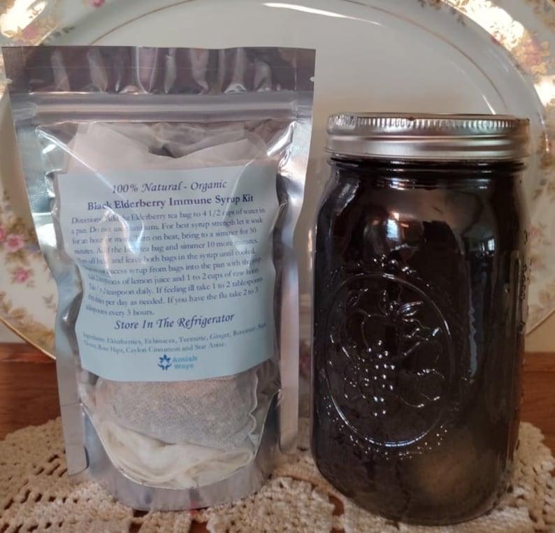 32oz Elderberry Syrup Kit with 10 Immune Herbs Elderberry Syrup Kit