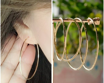 b0294a59f Large Hoop Earrings, Made of 10 Karat Gold, Earrings Hoops, Hoops Gold  Earrings, Jewelry Store, Earrings For Men, Jewelry For Women