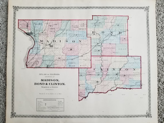 1872 Illinois County Map Madison, Bond Clinton County's on il city map, il voting districts map, il state map, pike co il map, il regional map, ga counties map, il world map, il zip map, il water map, il senate map, chillicothe il map, counties in il map, wi counties map, bloomington il map, wayne il map, il community college districts map, il township map, decatur il map, illinois map, il construction map,