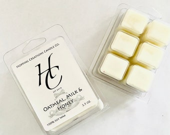 Oatmeal Milk and Honey Scented Wax Melts Cubes Scented Wickless Candle Tarts